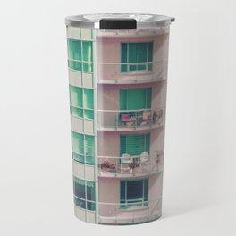 Pastel Urban Architecture Travel Mug