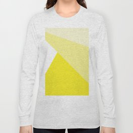 Simple Geometric Triangle Pattern - White on Yellow - Mix & Match with Simplicity of life Long Sleeve T-shirt