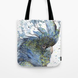 """Watercolor Painting of Picture """"Black Cockatoo"""" Tote Bag"""
