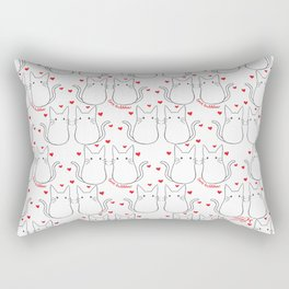 Cat Lovebubbles Rectangular Pillow