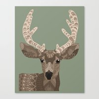 antlers Canvas Prints featuring Antlers by ArtLovePassion