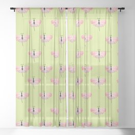 Tropical Butterfly on Gossamer Wings  Sheer Curtain