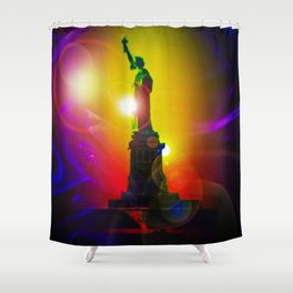 New York NYC - Statue of Liberty 10 Shower Curtain