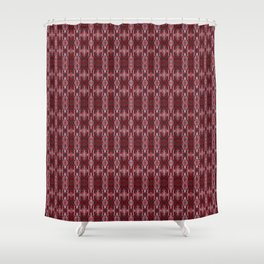 Red ,ethnic ornament 2 Shower Curtain