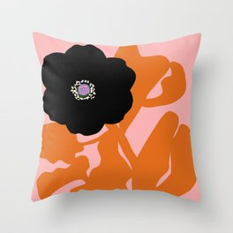 Clumsy Flower Throw Pillow