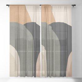 abstract minimal sunrise Sheer Curtain