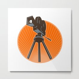 Vintage 35mm Motion Picture Camera Retro Metal Print