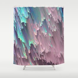 Iridescent Shadows Glitches Shower Curtain