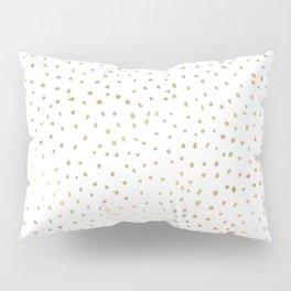 Dotted Gold Pillow Sham
