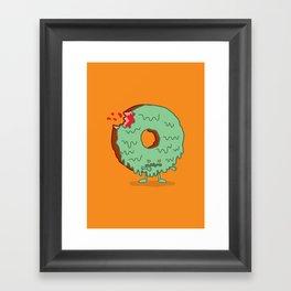 The Zombie Donut Framed Art Print