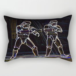 Storm Troopers in neon Rectangular Pillow