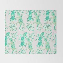Geckos – Mint Palette Throw Blanket