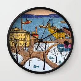 Glenn Coleman Battery Park Wall Clock