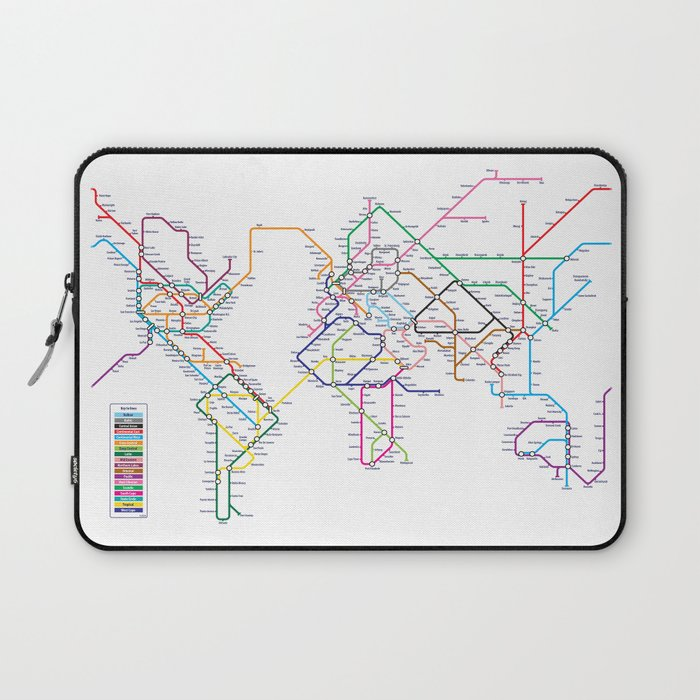 World Metro Subway Map Laptop Sleeve By Artpause Society6