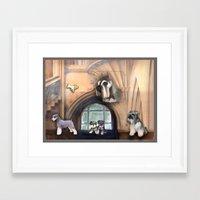 schnauzer Framed Art Prints featuring Schnauzer by Michelle Behar