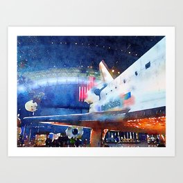 Shuttle Discovery Art Print