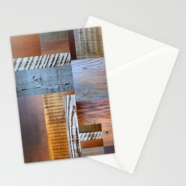 Reclaimed Wood Collage 4.0 Stationery Cards