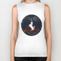 unicorn Biker Tanks featuring Unicorn by Danse de Lune