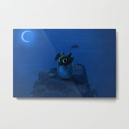 digital fantasy How to Train Your Dragon movies dragon eggs night Moon rock baby animals blue Toothless Metal Print