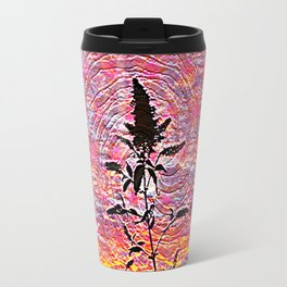 Leaf shadow at sunset Travel Mug