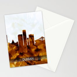 Durban South Africa Skyline Stationery Cards