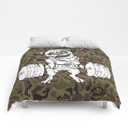 Pug Lift Camo Comforters