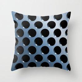 Cool Steel Graphic Art Like Polka Dots Throw Pillow