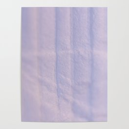 Crumpled Lines on Lilac Paper Texture Poster
