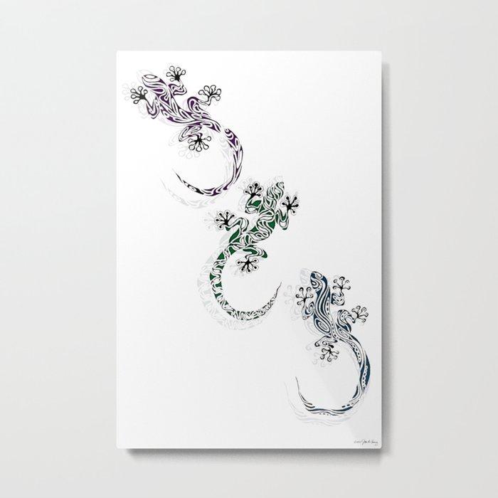 GECKO SHADOWS Metal Print
