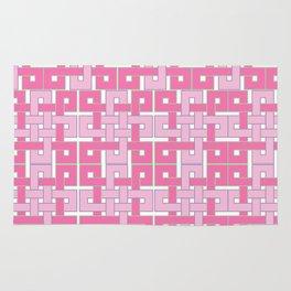 Celtic Squares in Pink Rug
