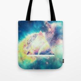 Awsome collosal deep space triangle art sign Tote Bag