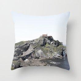 San Juan de Gaztelugatxe Throw Pillow