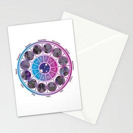Starlight Zodiac Wheel Stationery Cards