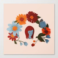 redhead Canvas Prints featuring Redhead by olivia mew