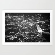 Fly Over Cities Art Print
