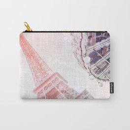Shimmering Pink Paris Memories Carry-All Pouch