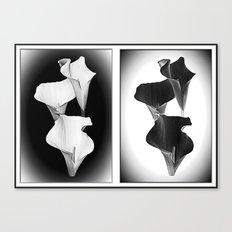 Calla Lillies. Black + White. Canvas Print