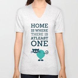 home is where Unisex V-Neck