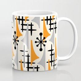 Mid Century Modern Atomic Wing Composition Orange & Gray Coffee Mug