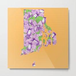 Rhode Island in Flowers Metal Print