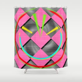 colored abstraction Shower Curtain