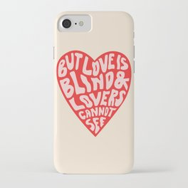 LOVERS CANNOT SEE iPhone Case