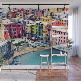 Italy Liguria Cinque Terre Seaside Colorful Houses Wall Mural