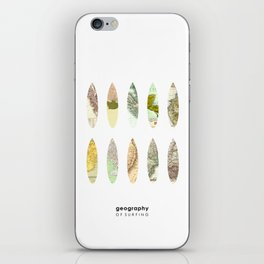 Geography of surfing iPhone Skin