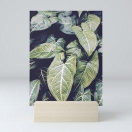 Jungle leaf - vintage Mini Art Print