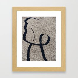 Man on the Street Framed Art Print