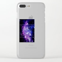 Flower of Life : Sacred Geometry Clear iPhone Case