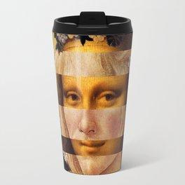 Leonardo's Mona Lisa & Botticelli's Flora Travel Mug