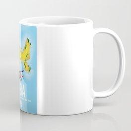 Elba, Tyrrhenian Sea ,Tuscan ,Italy travel poster map. Coffee Mug