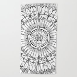 Flower Mandala Beach Towel